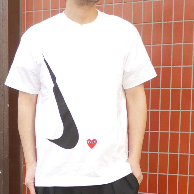 コムデギャルソン COMME des GARCONS 安売り 100%安心保証 直営ストア 当店取扱い商品は全て本物 正規商品 2021年3月度 月間優良ショップ受賞 新品 プレイ PLAY x ホワイト WHITE 39ショップ Tシャツ MENS 新作 ナイキ T-Shirt 白 メンズ Play NIKE