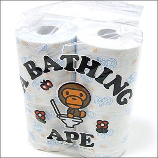 A BATHING APE (エイプ) 화장지 4 개 세트