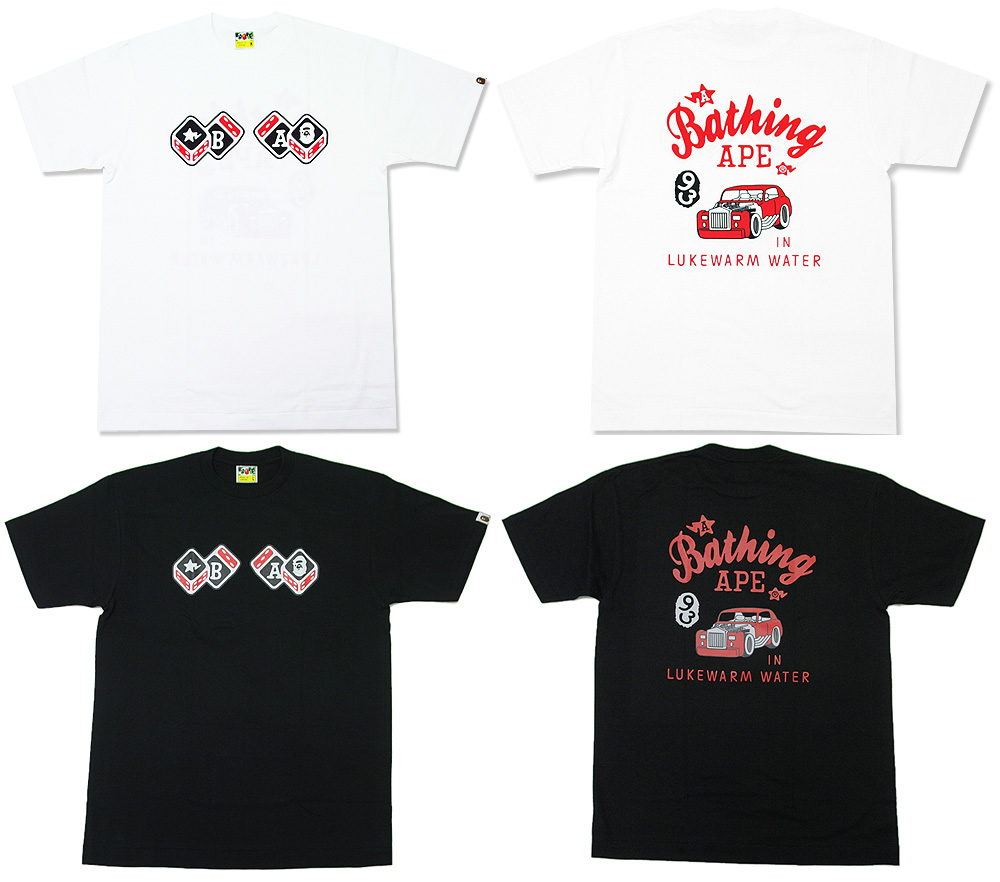 A BATHING APE (APE) DICE CAR T shirt 200-002187-040