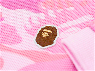 A BATHING APE(에이프) 파이어 CAMO 폴로 셔츠218-000099-043