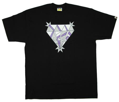 A BATHING APE(에이프) BAPE 다이어 T셔츠 BLACK 200-002376-020-LADY'S