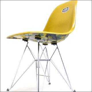 A BATHING APE (エイプ) x 찰스 레이 임 즈 MODERNICA bape camo side chair GREEN CAMO 299-000249-015
