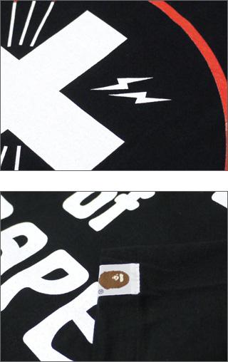 A BATHING APE(에이프) x FRAGMENTDESIGN(fragment 디자인) BAPTISM of BAPE T셔츠 BLACK 200-002760-051