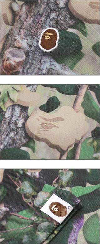 A BATHING APE (APE) VILLAGE CAMO short sleeve polo shirt [villagecamo] GREEN CAMO 218-000190-045 [1760-112-002]-