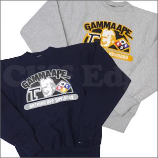 A BATHING APE (エイプ) GAMMA APE CREWNECK 스웨터 209-000197-032 +