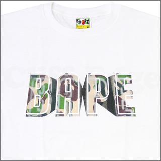 A BATHING APE (APE) BAPE NEON SIGN T shirts WHITE 200-003561-040-