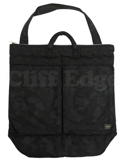 A BATHING APE (エイプ) x PORTER (포터) JACQUARD CAMO HELMET BAG BLACK CAMO 275-000074-011 +