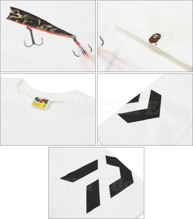 A FISHING APE (APE phishing) A BATHING APE (bathing APE) x DAIWA (Daiwa) POPPER T shirt WHITE 200 - 003823 - 040x