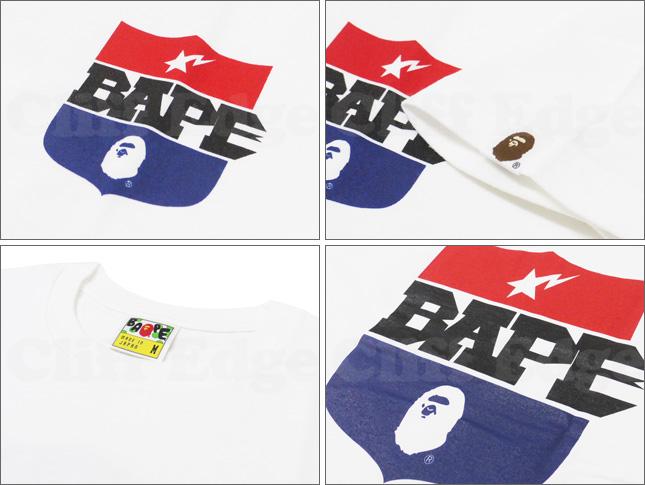 A BATHING APE(에이프) BAPE SHIELD T셔츠 WHITE 200-004107-040[1860-110-047]-