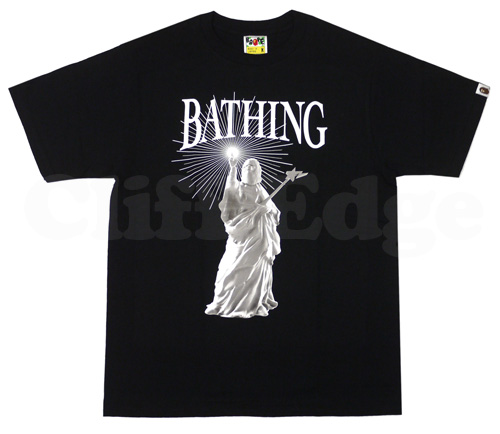 A BATHING APE(에이프) LIBERTY T셔츠 BLACK 200-004268-041[1860-110-068]-