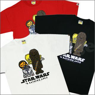 66db7b41 A BATHING APE (APE) 200-004335-040 CLOUD CITY T shirt x STAR WARS (Star Wars )-