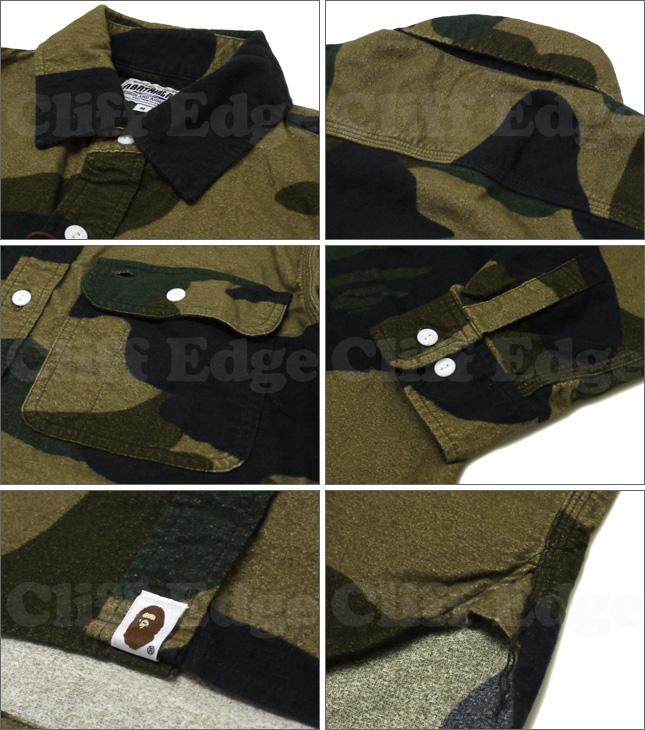 c8ec15721 A BATHING APE (APE) GIANT 1ST CAMO FLANNEL long sleeve shirt [brand new]