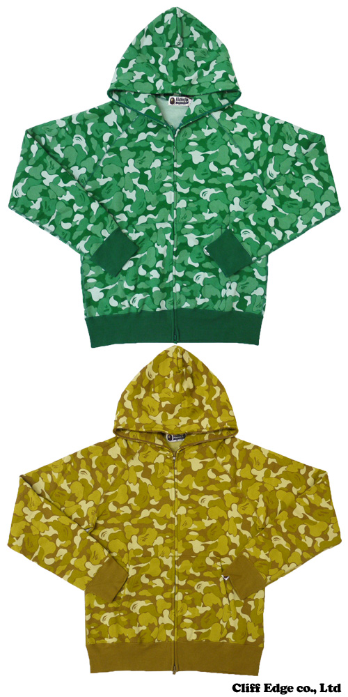 A BATHING APE 비매품 BAPE MANIA BAPE CARD CAMO FULL ZIP 파커 GREEN CAMO/GOLD CAMO 212-000687-045+