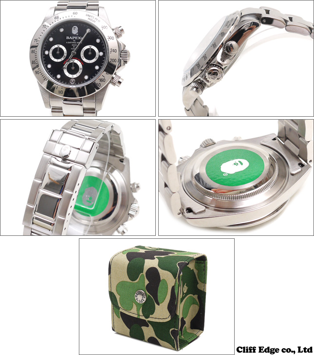 A BATHING APE TYPE 3 BAPEX[手表]BLACK 287-000147-011[1970-182-087]-