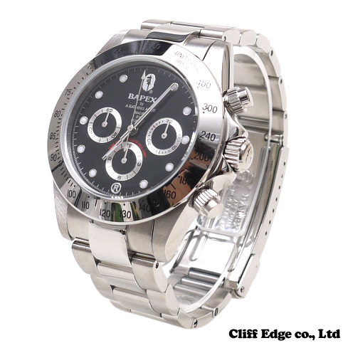 A BATHING APE TYPE 3 BAPEX [손목시계] BLACK 287-000147-011[1970-182-087]-