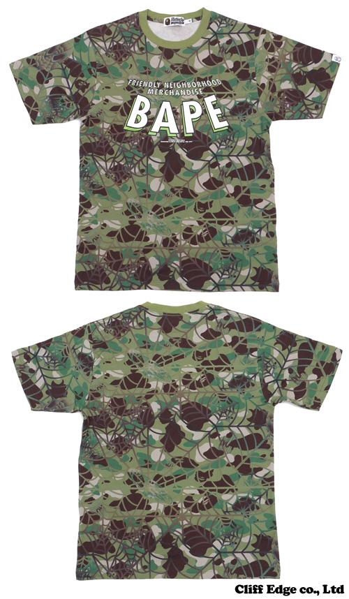 A BATHING APE x MARVEL COMICS BAPE SPIDERMAN CAMO T셔츠 GREEN CAMO 200-005063-045[1973-109-932]-