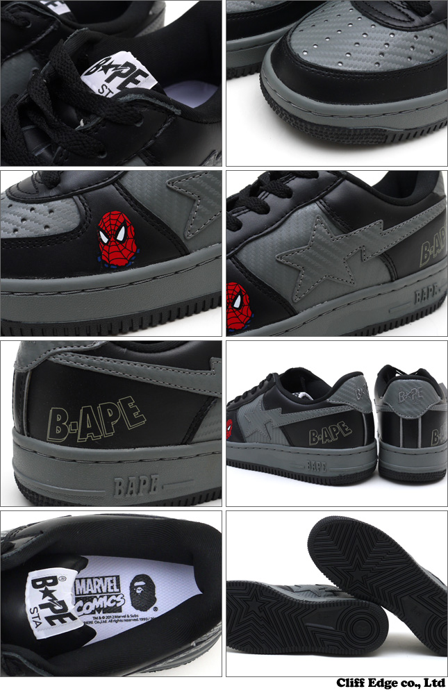 A BATHING APE x MARVEL COMICS BAPE SPIDERMAN BAPESTA [스니커] BLACK 291-001219-291[1973-191-931]-