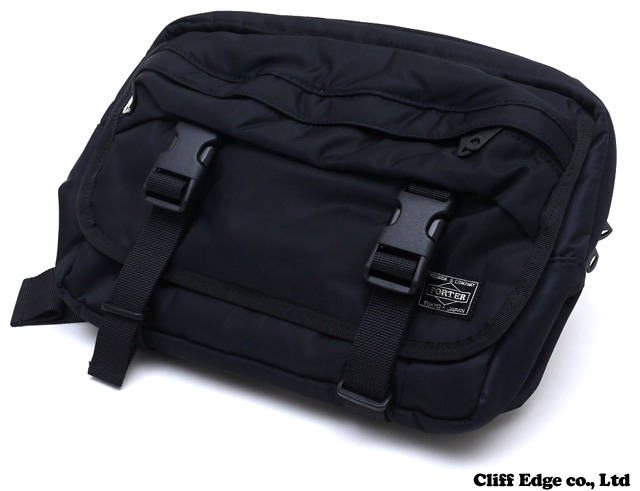 A BATHING APE x PORTER WAIST BAG solid BLACK 277-001837-011-