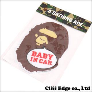 A BATHING APE(에이프) BAPE KIDS APE HEAD BABY IN CAR STICKER (카 스티커) BROWN 290-002913-016(1 A30-382-620)-