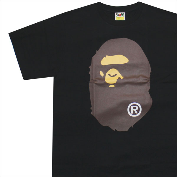 A BATHING APE (エイプ) BIG APE HEAD TEE (Tシャツ) BLACK 1C80-110-004 200-007193-051-【新品】