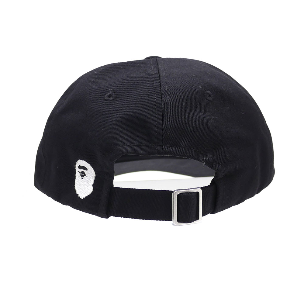 A BATHING APE (에이프) KATAKANA EMBROIDERY PANEL CAP (캡) BLACK 1 D30-180-015 265-000799-011-