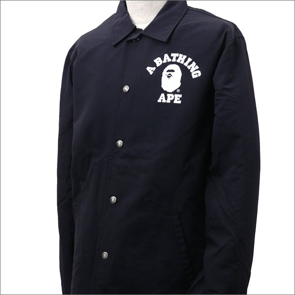 867f5d8ca7c6 Cliff Edge  A BATHING APE COLLEGE COACH JACKET BLACK 1D30-140-015 ...