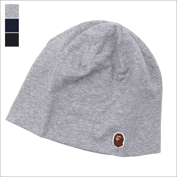 A BATHING APE (エイプ) ONE POINT BEANIE (ビーニー)(ニットキャップ) 1D25-180-017 253-000389-011x【新品】