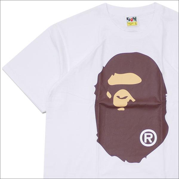 A BATHING APE (エイプ) APE HEAD TEE (Tシャツ) WHITE 1D25-110-113 200-007683-050x【新品】