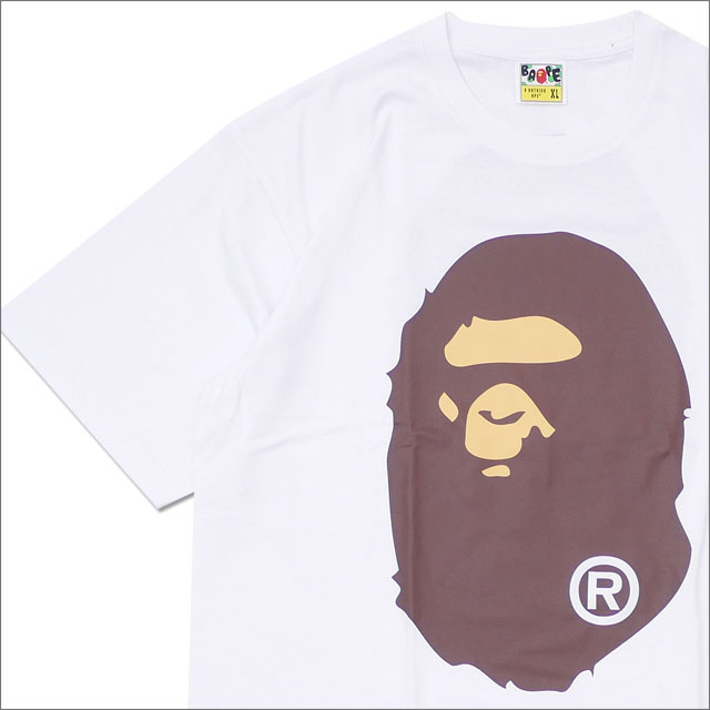 A BATHING APE (エイプ) BIG APE HEAD TEE (Tシャツ) WHITE 1E30-110-004 200-007193-060x【新品】