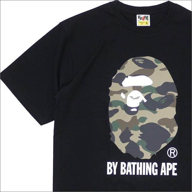 A BATHING APE (エイプ) REFLECTOR 1ST CAMO BY BATHING TEE (Tシャツ) BLACKxGREEN 1E30-110-057 200-007828-061x【新品】