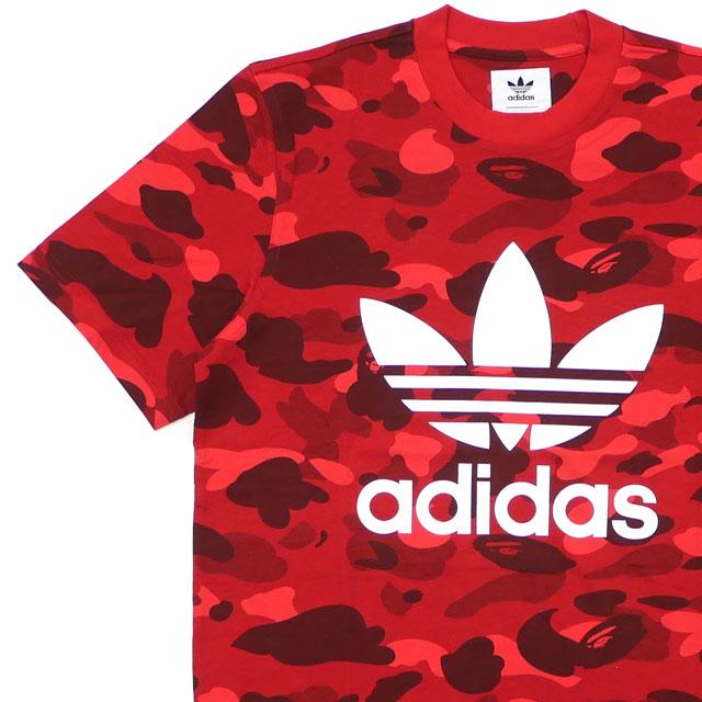 A BATHING APE(エイプ) x adidas Originals(アディダス) CAMO TEE (Tシャツ) RED 200-007920-033+【新品】