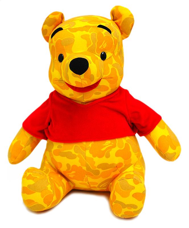 A BATHING APE (エイプ) xDISNEY 곰 돌이 푸우 인형 BAPE CAMO 183-000120-018 190-000557-018 +