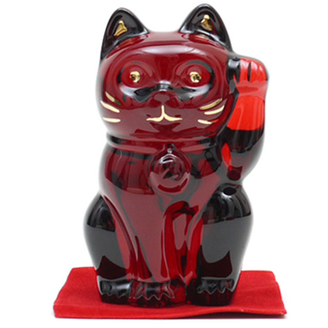 Baccarat CRYSTAL 招き猫 RED 290-002345-013+【新品】