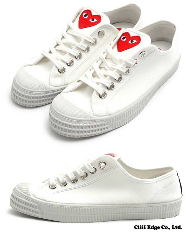 PLAY COMME des GARCONS x NOVESTA STAR MASTER PLAY (ノベスタ) (Star master) (sneakers) (shoes) WHITE 291-001497-260 +