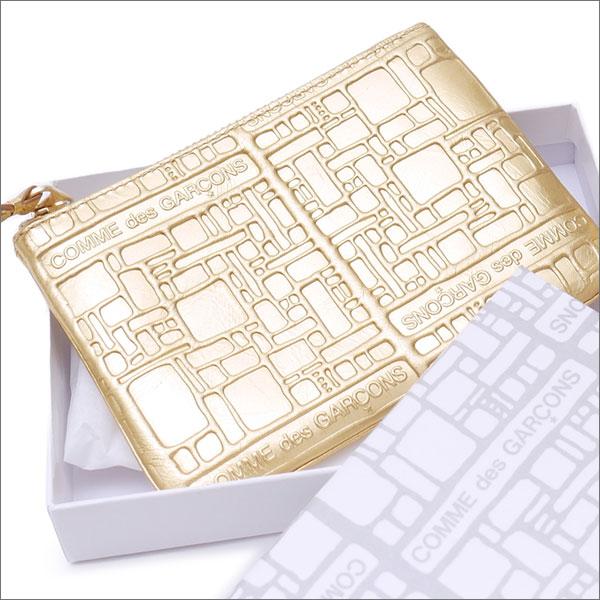 コムデギャルソン COMME des GARCONS Wallet Embossed ウォレット 財布 GOLD 272000155018 【新品】