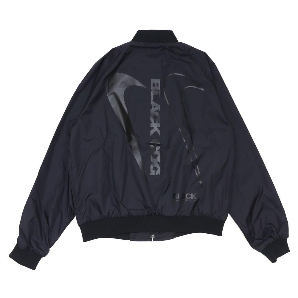 BLACK COMME des GARCONS (블랙콤 드 르 손) x NIKE (나이키) SWOOSH NYLON STADIUM JKT (재킷) BLACK 225-000274-051x