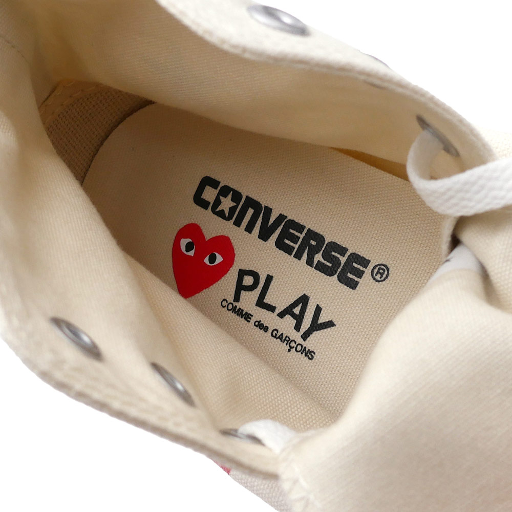 PLAY COMME des GARCONS (플레이 콤 데 걀슨) x CONVERSE(콘바스) ALL STAR HI/PCDG (올스타)(슈즈)(스니커) WHITE 291-002210-260 x