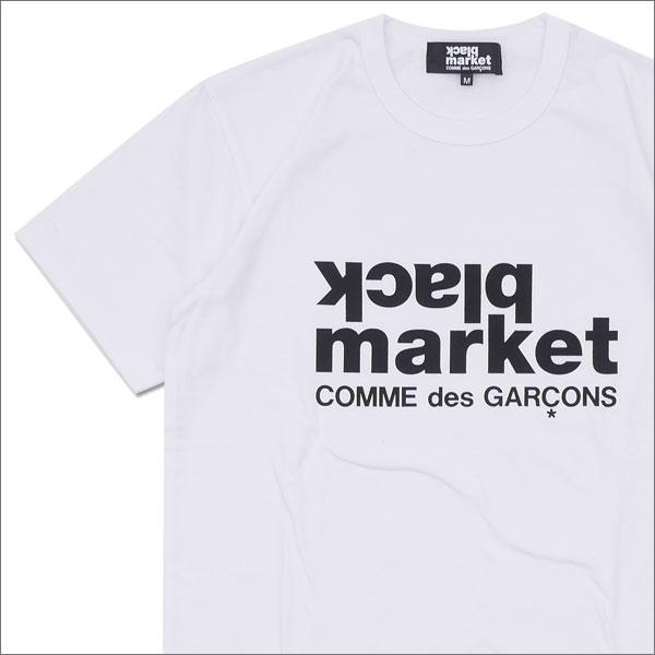 COMME des GARCONS(콤 데 걀슨) BLACK MARKET LOGO TEE (T셔츠) WHITE 200-007332-040+