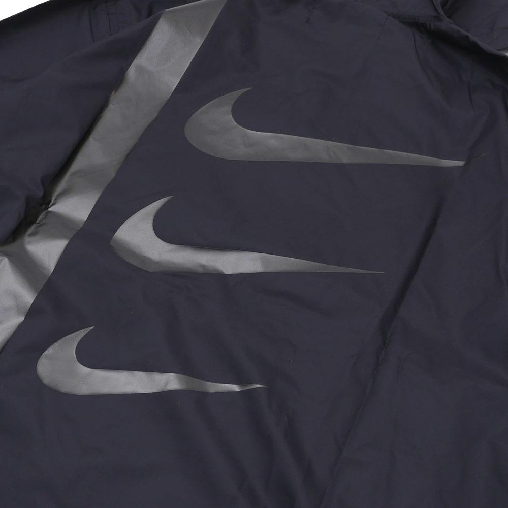 BLACK COMME des GARCONS x NIKE SWOOSH NYLON HOODED JKT (jacket) BLACK 225-000302-061x