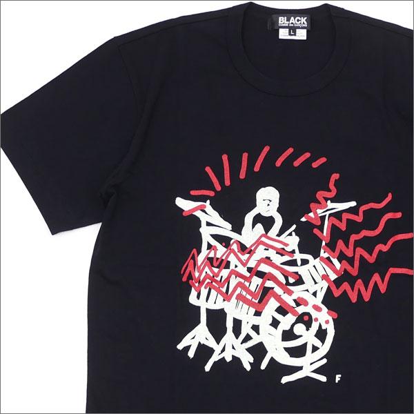 BLACK COMME des GARCONS(ブラック コムデギャルソン) DRUMMER SOUND TEE (Tシャツ) BLACK 200-007369-051x【新品】