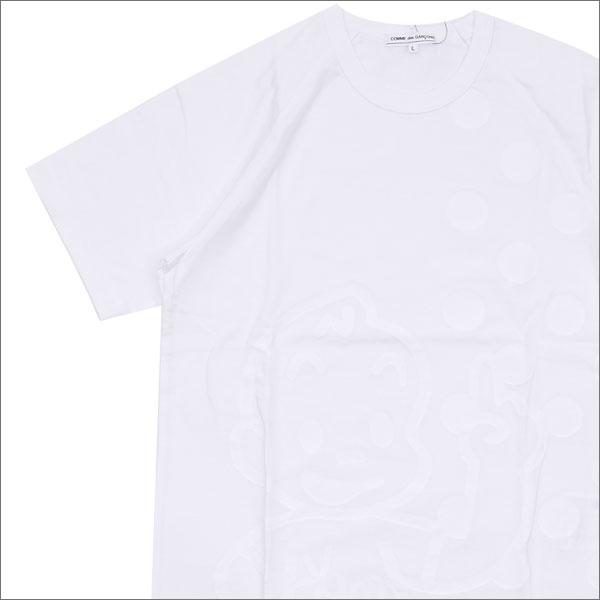 コムデギャルソン COMME des GARCONS x Osamu Harada 原田治 キャラクター&ドット Raglan Tee ラグランTシャツ WHITE 200007386050 【新品】
