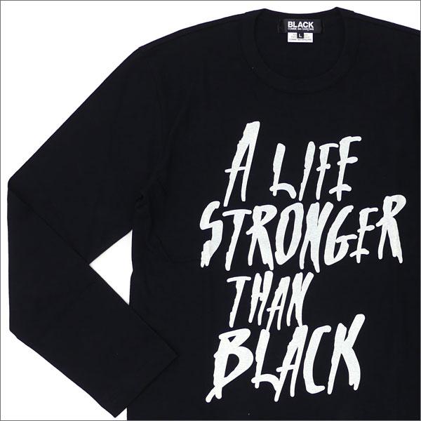 ブラック コムデギャルソン BLACK COMME des GARCONS A.L.S.T.B L S TEE 長袖Tシャツ BLACK 200007488051 【新品】