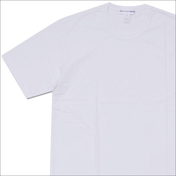 COMME des GARCONS SHIRT (コムデギャルソン シャツ) Hem Logo Print Tee (Tシャツ) WHITE 200-007510-060x【新品】