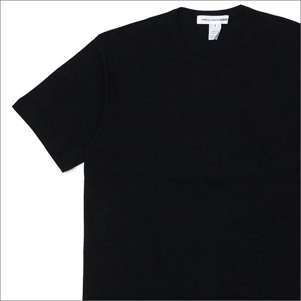 COMME des GARCONS SHIRT (コムデギャルソン シャツ) Hem Logo Print Tee (Tシャツ) BLACK 200-007510-061x【新品】