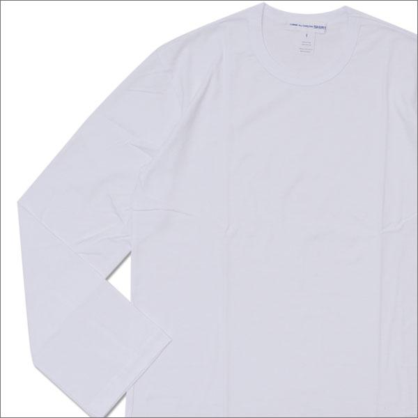 COMME des GARCONS SHIRT (コムデギャルソン シャツ) Hem Logo Print L/S Tee (長袖Tシャツ) WHITE 202-000873-060x【新品】
