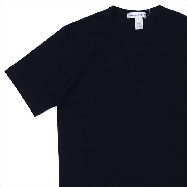 [次回のお買い物で使える500円OFFクーポン配布中!! 4/30(火)まで!!] コムデギャルソン シャツ COMME des GARCONS SHIRT Plain Crew Neck Tee Tシャツ NAVY 200007505067 【新品】