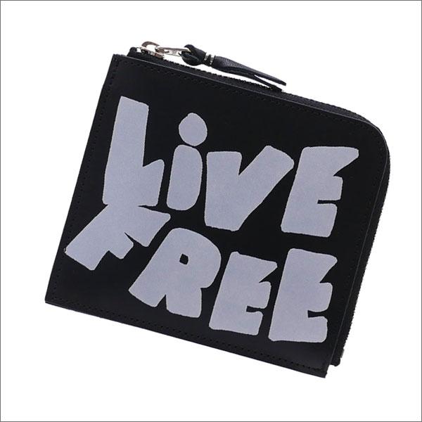 COMME des GARCONS(コムデギャルソン) live free ZIP Wallet (ウォレット)(財布) BLACK 271-000382-011x【新品】