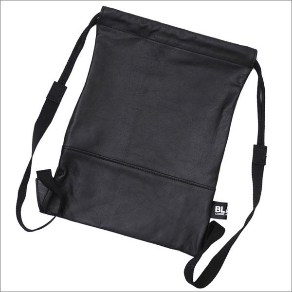 BLACK COMME des GARCONS(ブラック コムデギャルソン) Leather Knapsack (ナップサック)(バックパック) BLACK 277-002437-011x【新品】