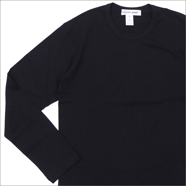 COMME des GARCONS SHIRT(コムデギャルソン シャツ) Hem Logo Print L/S Tee (長袖Tシャツ) BLACK 202-000896-041x【新品】