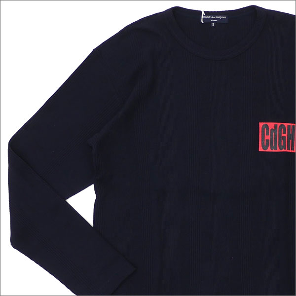 COMME des GARCONS HOMME(コムデギャルソン オム) CdGH LOGO L/S THERMAL (長袖Tシャツ) NAVY 203-000270-037x【新品】
